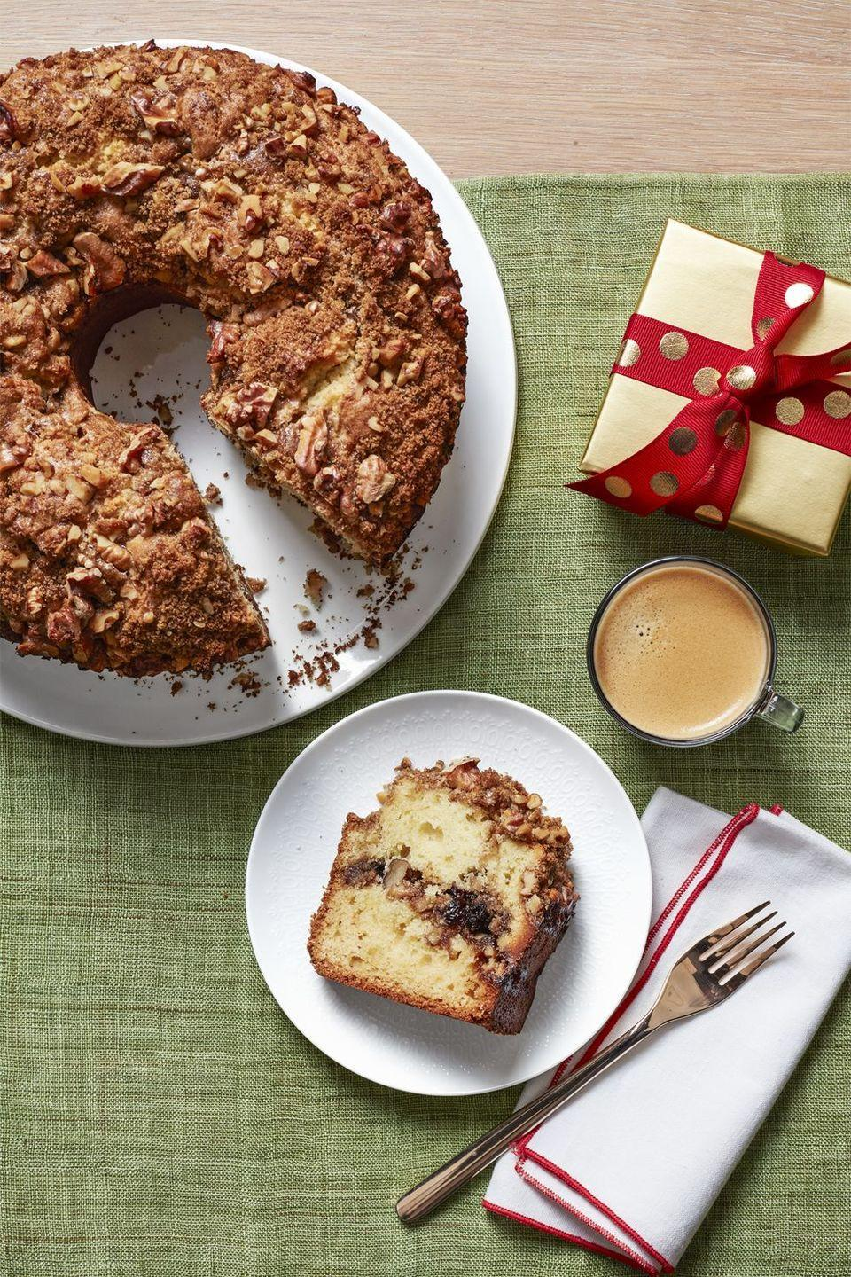 "<p>Because no one wants to bake a cake before they've had coffee, this fully-baked treat lasts in the freezer for up to 3 days and thaws in about an hour, so it'll be ready for you and your coffee mug in the morning.</p><p><em><a href=""https://www.womansday.com/food-recipes/recipes/a56899/freeze-ahead-coffee-cake-recipe/"" rel=""nofollow noopener"" target=""_blank"" data-ylk=""slk:Get the recipe from Woman's Day »"" class=""link rapid-noclick-resp"">Get the recipe from Woman's Day »</a></em></p>"