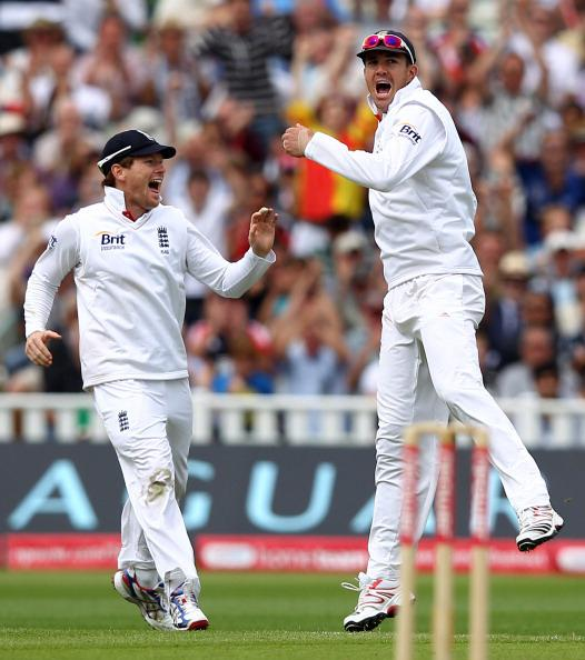 England claimed the number one test ranking when they beat India by an innings and 242 runs during the third npower test match on August 14, at Edgbaston in Birmingham. England also went on to whitewash the world champions 4-0. (Richard Heathcote/Getty Images)