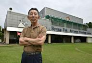 Coach Kim Hyung-tak at his archery training centre in Goesan. This year the South Korea team has practised at a replica of the arena in Tokyo as aim to continue their dominance in the sport