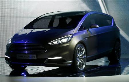 The new Ford S-Max concept car is presented during a media preview day at the Frankfurt Motor Show