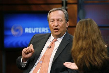 Senior White House economic adviser Lawrence Summers speaks during an interview with Reuters in Washington in this June 24, 2010 file photo. REUTERS/Molly Riley/Files