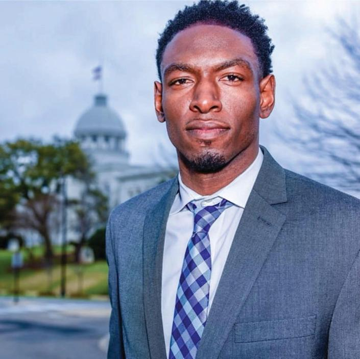 Rep. Jeremy Gray, who played cornerback for the North Carolina State Wolfpack and later played in the Canadian Football League, has taught yoga and said it felt physical and mental benefits from the practice.