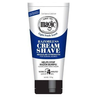 <p>The <span>Magic Razorless Cream Shave Hair Removal Depilatory</span> ($3) is a good option for people with coarse hair and can even be used on beards and bald heads.</p>