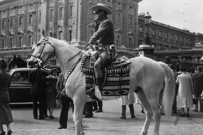 The president referenced the Lone Ranger character who was played by Clayton Moore (Getty Images)