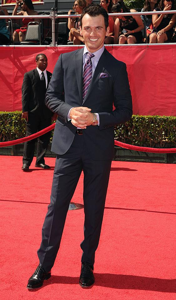 "Tony Dovolani, pro dancer for ""Dancing With the Stars,"" arrives at the 2012 ESPY Awards."