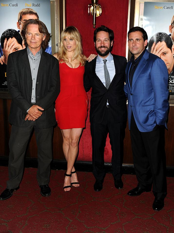 "<a href=""http://movies.yahoo.com/movie/contributor/1800018869"">Bruce Greenwood</a>, <a href=""http://movies.yahoo.com/movie/contributor/1804519884"">Lucy Punch</a>, <a href=""http://movies.yahoo.com/movie/contributor/1800018571"">Paul Rudd</a> and <a href=""http://movies.yahoo.com/movie/contributor/1804514078"">Steve Carell</a> at the New York City premiere of <a href=""http://movies.yahoo.com/movie/1810133251/info"">Dinner for Schmucks</a> - 07/19/2010"