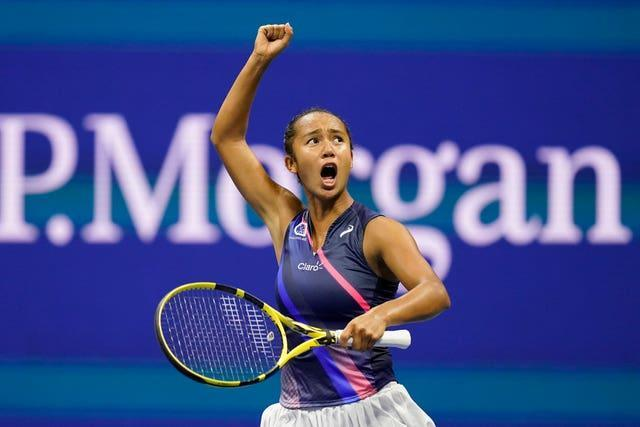 Leylah Fernandez is very expressive on court