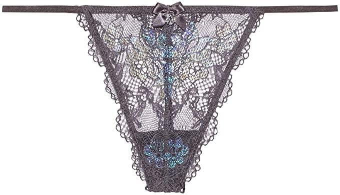<p><span>Savage X Fenty Living in The Clouds Iridescent Lace G-String</span> ($23)</p>