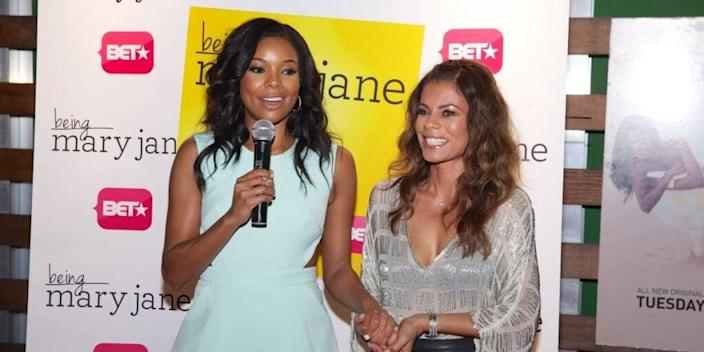 Gabrielle Union and Lisa Vidal during 'Being Mary Jane' press event. Photo: BET.com