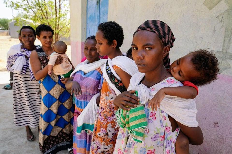 <p>Survivors displaced by conflict in Ethiopia, following a series of attack in towns in Tigray</p> (Getty Images)