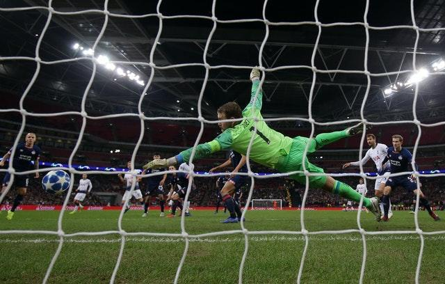 Harry Kane's 89th-minute winner, via a deflected header, takes him to 150 Tottenham goals and helps Spurs to a 2-1 win over PSV in the Champions League group stage in October, 2018. It kept alive their hopes of reaching the knock-out stage and they would go all the way to the final