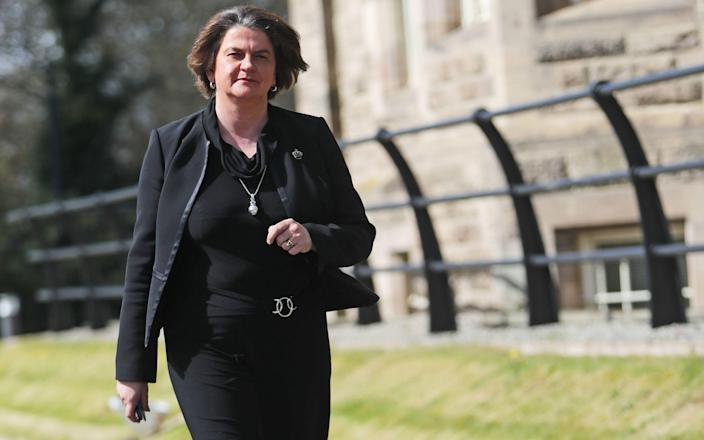 Northern Ireland's First Minister Arlene Foster, who has launched libel proceedings at the High Court in Belfast against Dr Christian Jessen - PA
