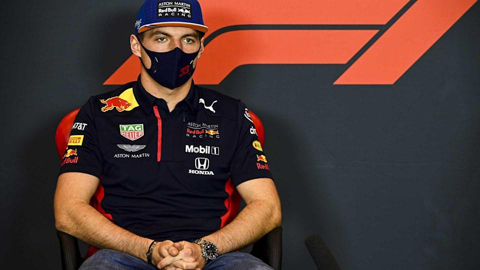 Max Verstappen, Red Bull Racing, in a Press Conference