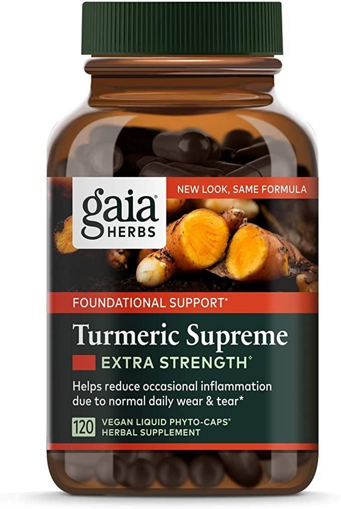 """<p>""""I get some pretty bad menstrual cramps every month. One morning when I had no time to waste on pesky menstrual symptoms, I headed straight to my kitchen for a pain reliever. Out of the corner of my eye, I noticed the bottle of <span>Gaia Turmeric Supreme Extra Strength</span> ($29) that I gave to my husband to help him reduce inflammation and support his heart health. I know that period cramps are linked to inflammation, so I figured I would do a little experiment and try these yellow pills for myself. I wondered if the natural anti-inflammatory benefits of the turmeric would have the same effect. </p> <p>Within 15 minutes of taking the pills, my period cramps were a thing of the past. The pain relief was very similar to what I experience when taking OTC medication, but it took about half the time for the effects to kick in. I've now made it a monthly practice to take the Gaia Turmeric Supreme Extra Strength supplement, starting a week before my period begins. To me, there is little downside to supplying my body with this herb, it's easy enough to include in my diet, and I welcome the idea of having fewer PMS symptoms any month of the year!"""" - Lauren Manaker, contributor</p> <p>Read the full <a href=""""https://www.popsugar.com/fitness/how-turmeric-supplement-helped-soothe-my-period-cramps-48222362"""" class=""""link rapid-noclick-resp"""" rel=""""nofollow noopener"""" target=""""_blank"""" data-ylk=""""slk:Gaia Herbs Turmeric Supreme Extra Strength review"""">Gaia Herbs Turmeric Supreme Extra Strength review</a>.</p>"""