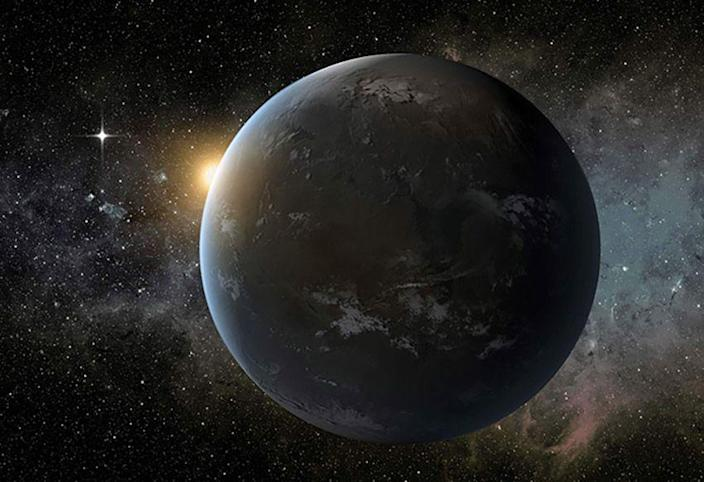 <p>A full orbit for Wolf 1061 c takes 17.9 days, and it has a sizeable mass, about 3.41 times that of Earth's. The exoplanet orbits a M-type star 14 light-years from Earth. </p>