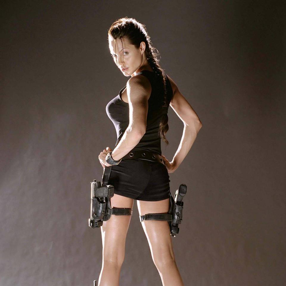 <p>She was fierce when she played Lara Croft in Tomb Radar in 2001. Source: NBC </p>