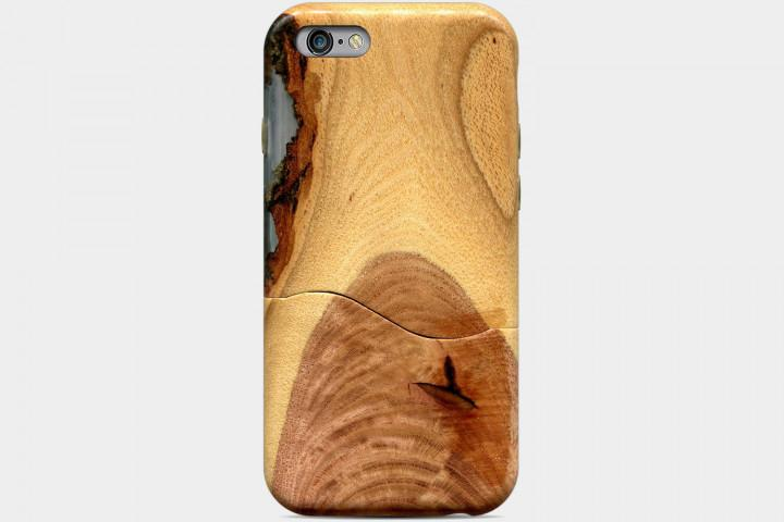 Carved Live Edge Solid Wood Case