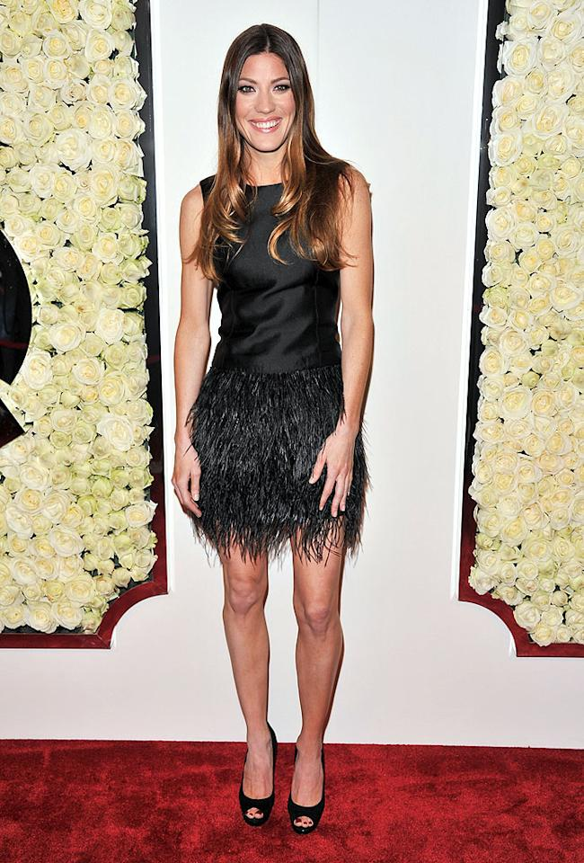 "BEVERLY HILLS, CA - FEBRUARY 23:  Jennifer Carpenter attends the QVC's""Buzz On The Red Carpet"" Cocktail Party at Four Seasons Hotel Los Angeles at Beverly Hills on February 23, 2012 in Beverly Hills, California.  (Photo by George Pimentel/WireImage)"