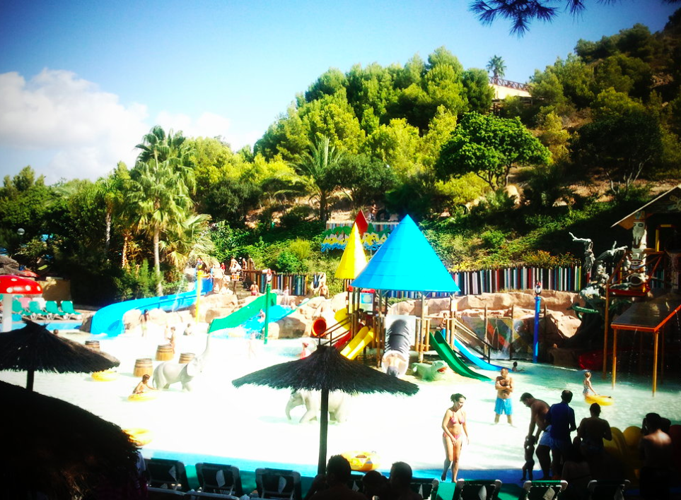 Ben Bardsley was filmed on Europe's tallest waterslide in the Aqualandia water park in Benidorm (Wikipedia/file pic)
