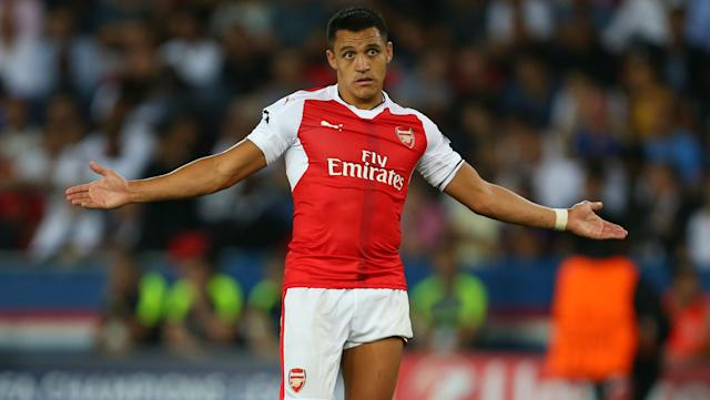 Yeah, we believe you always dreamed of Manchester United, Alexis Sanchez. Nudge nudge, wink wink. (Getty)