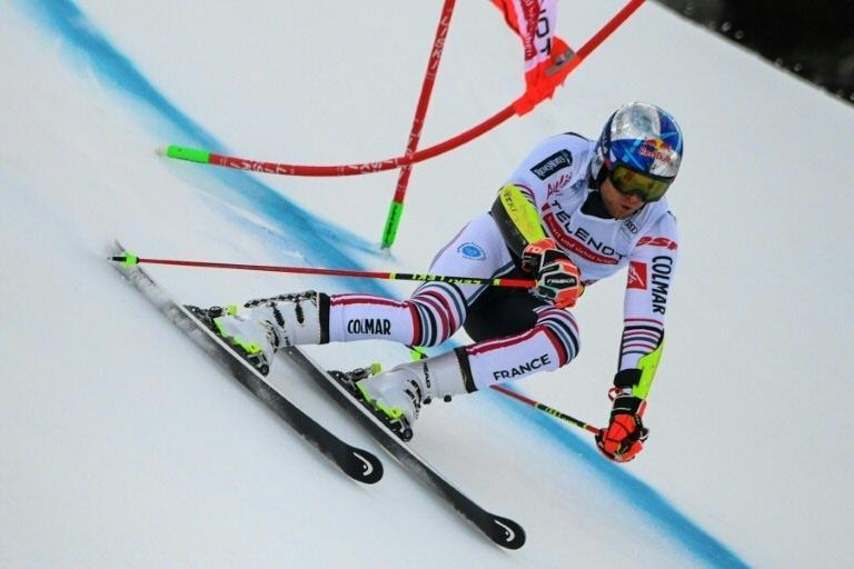 Pinturault won the World Cup men's giant slalom race on the Gran Risa slope in Alta Badia