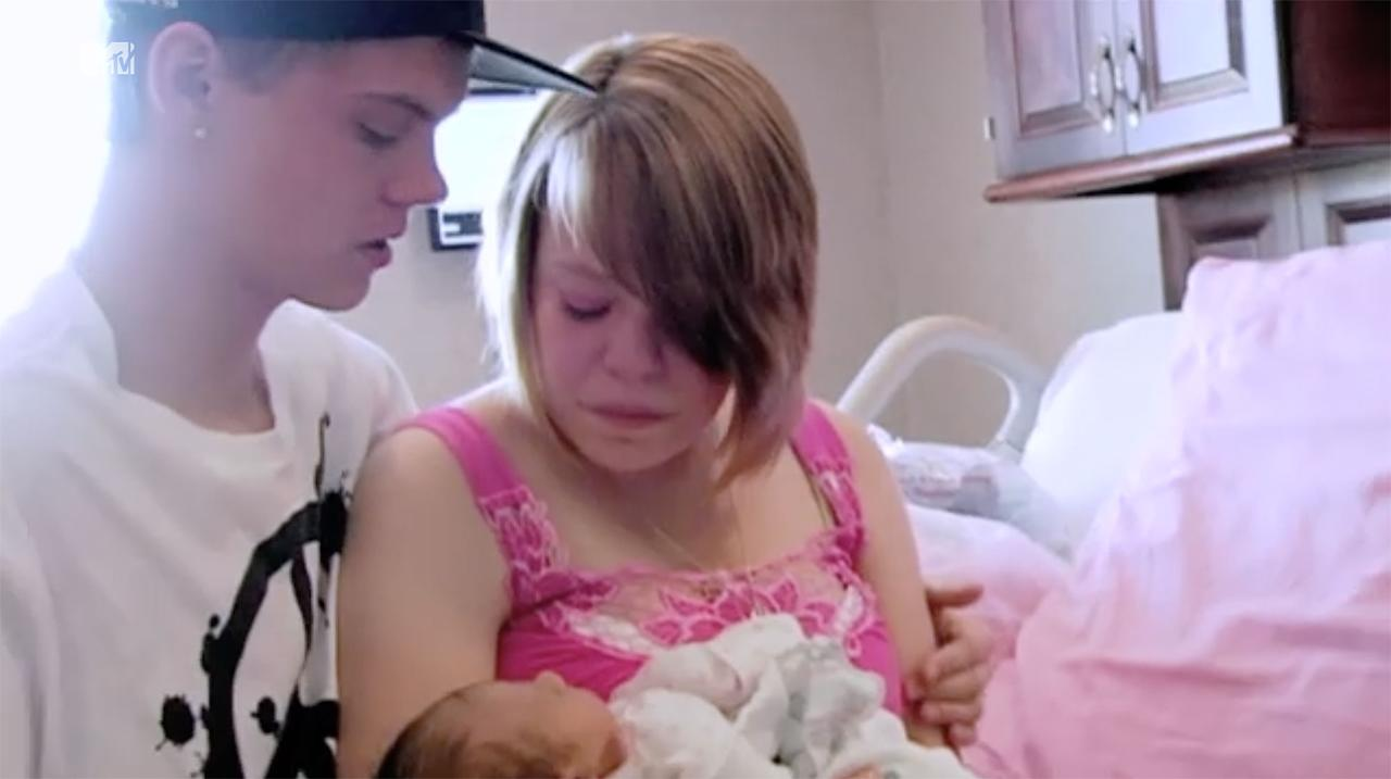 "<p>Catelynn Lowell, then 16, welcomed her firstborn daughter Carly on <em>16 and Pregnant</em> alongside then-boyfriend Tyler Baltierra. The pair opted for an adoption plan to provide their child with a stable home. Holding her for the first time, the couple cried as they said their goodbyes. ""We can do this ... this is all for her,"" Tyler told Catelynn.</p>"
