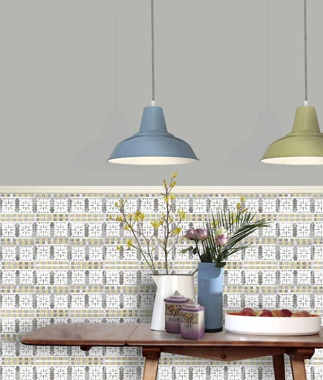"<p>If bona fide Victorian tiles are out of reach, designer Louise Body's wallpapers create the illusion of period ceramic designs without the price tag (and the grout). Choose from a variety of tile designs and colours to match your scheme.</p> <p><strong>Louise Body</strong> Flora Tile Wallpaper, £75 per 10 metre roll, available at <a href=""https://www.louisebody.com/shop/Wallpaper/Peggy_Collection/Flora_Tile"" rel=""nofollow noopener"" target=""_blank"" data-ylk=""slk:Louise Body"" class=""link rapid-noclick-resp"">Louise Body</a></p>"
