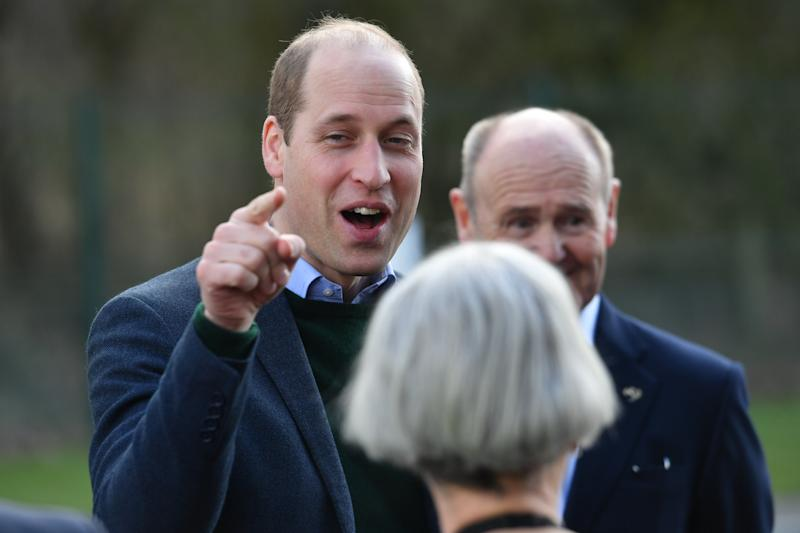 The Duke of Cambridge during a visit to the Tarmac National Skills and Safety Park in Nottinghamshire.