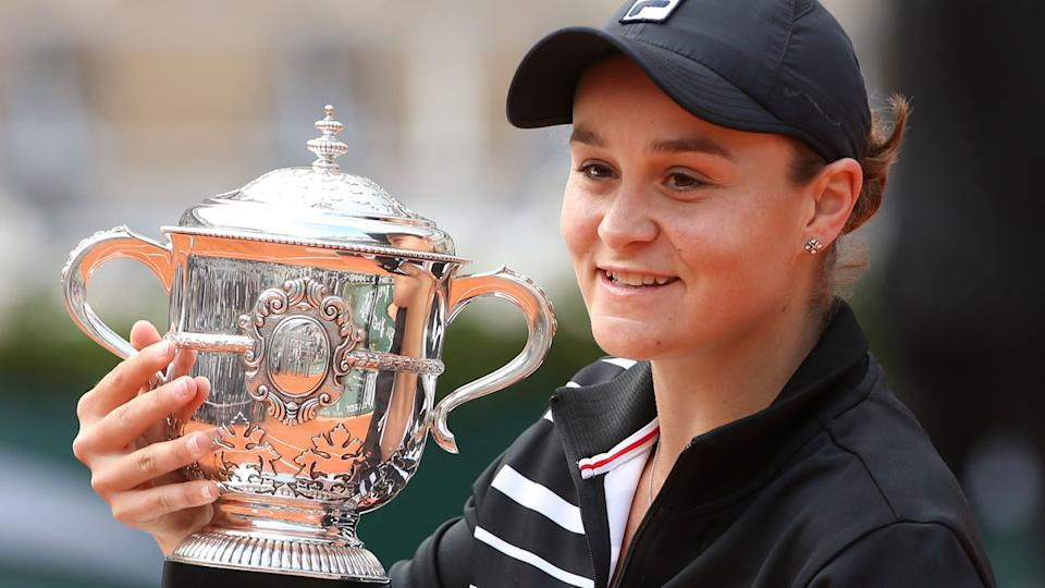 Australia's Ash Barty won the French Open final in straight sets. Pic: Getty