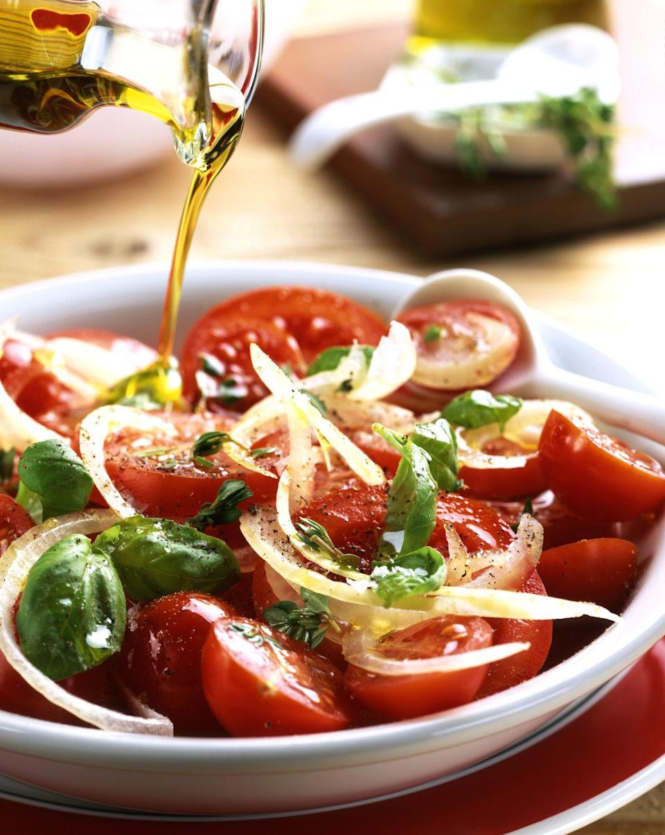 """<p><strong>Weekly servings to aim for:</strong> The MIND diet doesn't set a quota for olive oil; just use it in place of other oils and butter, and splurge on the extra-virgin variety.<br></p><p>Olive oil is rich in healthy monounsaturated fat. """"A low-carbohydrate diet that's high in good fats (such as polyunsaturates and monounsaturates) promotes ketosis, which supports brain function,"""" says Dr. Bredesen.<br></p>"""