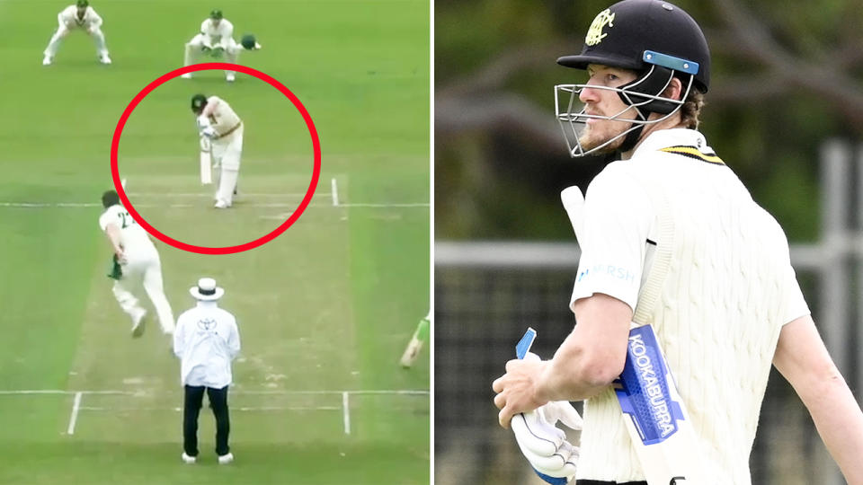 Cameron Bancroft, pictured here after being dismissed in extraordinary fashion.