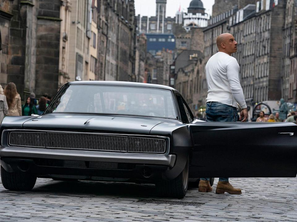 Vin Diesel and his Dodge Charger costar in 'F9' (Universal)