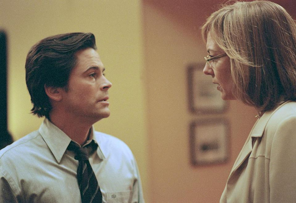 Rob Lowe as Sam Seaborn & Allison Janney as CJ Cregg in 'The West Wing' (©Warner Brothers 2001)