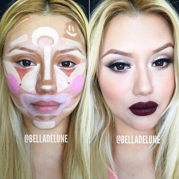 <p>Sure, everyone looks nice with accentuated cheekbones, but a light swoosh of bronzer should do the trick. Save the face paint for Halloween. (photo: Instagram)</p><p><br /></p>