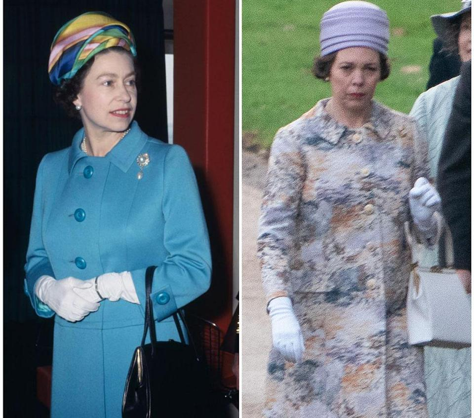 <p>Olivia Coleman has been pictured dressed up as Queen Elizabeth for season three of The Crown. Photo: Media Mode </p>