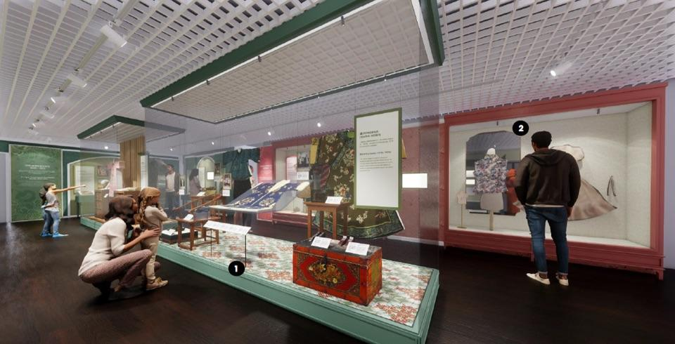 "Artist renderings of the upcoming ""Modern Women of the Republic: Fashion and Progress in China and Singapore"" exhibition. (PHOTO: National Heritage Board)"