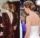 <p>We were drooling over the Chopard back necklace Jennifer Lawrence paired with her blush Christian Dior gown at the 2013 Oscars. However, it seems the Academy Award winner borrowed the styling tip from the Princess of Wales, who first draped a strand of pearls down back while wearing a backless red velvet Catherine Walker gown at the <em>Back to the Future </em>premiere in 1985.</p>