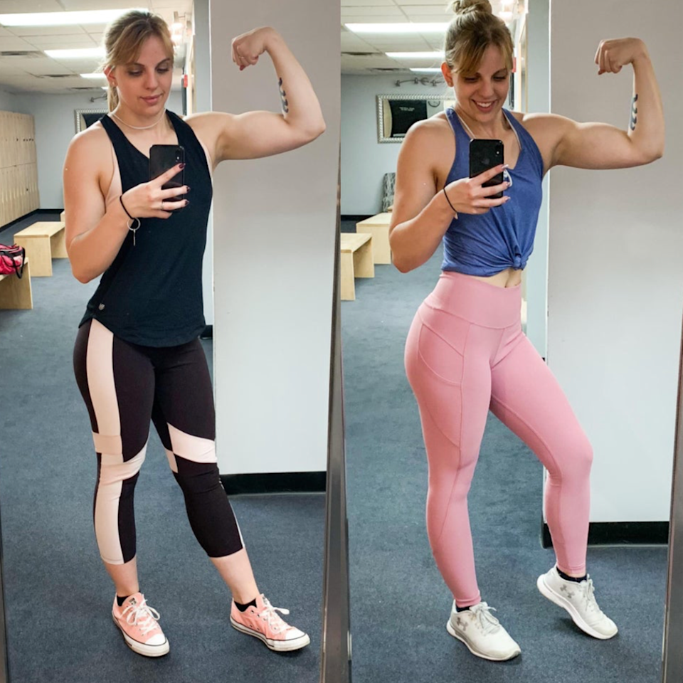"<p>Reddit user Maddi is all about the #gains. The self-proclaimed fitness enthusiast is not afraid to lift heavy. She put in some serious work in the gym and lost seven pounds.</p> <p>What makes her even more inspiring is that all her workouts are self-taught. ""I've never had a trainer,"" <a href=""https://www.reddit.com/r/progresspics/comments/cbwk4s/f2159_164lbs_157lbs_7lbs_finally_satisfied_with/"" target=""_blank"">she wrote</a>. ""But my boyfriend is my workout partner. I usually take his workouts and modify them for myself or find my own."" (Related: <a href=""https://www.shape.com/fitness/workouts/strength/health-and-fitness-benefits-lifting-weights-strength-training"" target=""_blank"">11 Major Health and Fitness Benefits of Lifting Weights</a>)</p> <p>Her next goal? A 135-pound bench press by January, she wrote. (Feeling inspired? Here's <a href=""https://www.shape.com/fitness/tips/beginners-guide-lifting-heavy-weights"" target=""_blank"">The Beginner's Guide to Lifting Heavy Weights</a>)</p>"