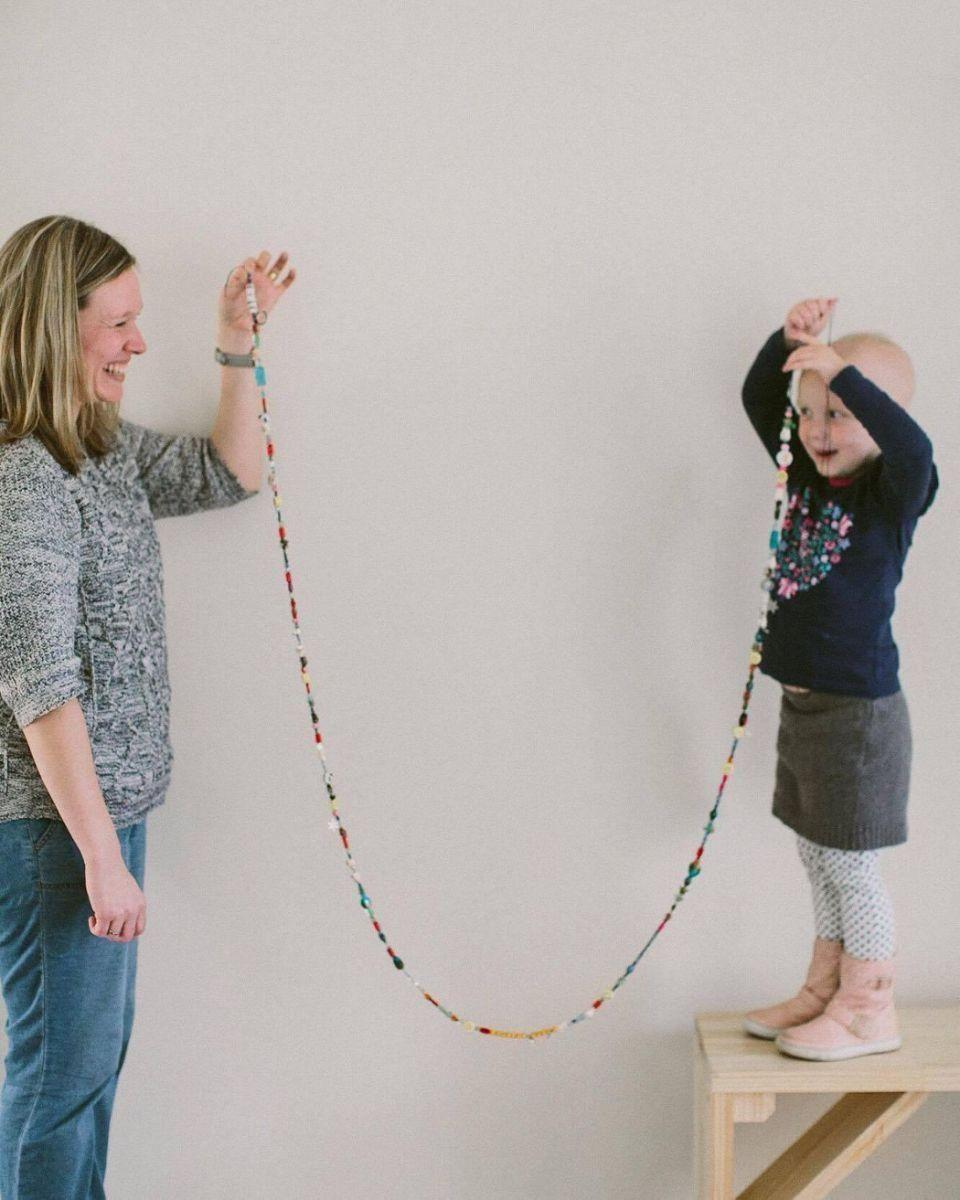 Evie had a long strand of courage beads. Photo: Supplied