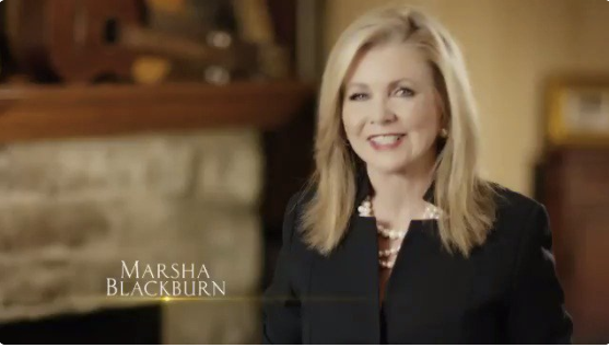 "Twitter blocked a campaign ad for Rep. Marsha Blackburn (R-Tenn.) for its ""inflammatory"" content. (Twitter)"