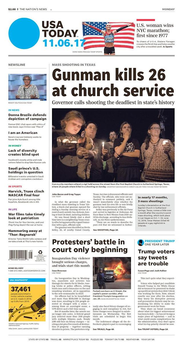 <p>USA TODAY<br> Published in McLean, Va. USA. (newseum.org) </p>