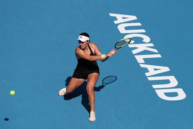 Jessica Pegula troubled Williams in the second set (AFP Photo/MICHAEL BRADLEY)