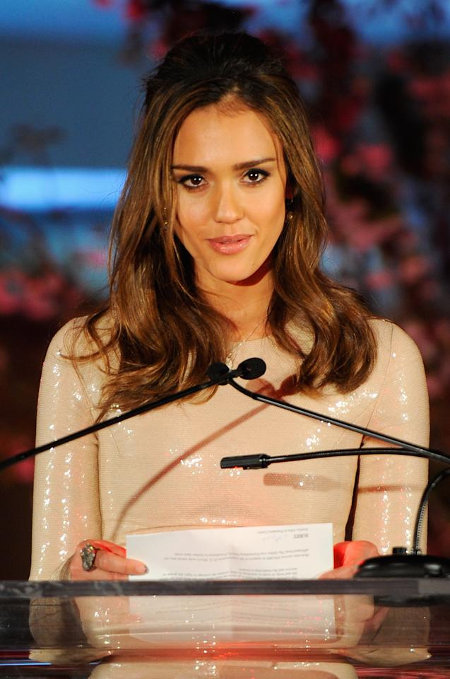 NEW YORK, NY - MARCH 09:  Jessica Alba speaks onstage at the 3rd annual Diane Von Furstenberg awards at the United Nations on March 9, 2012 in New York City.  (Photo by Andrew H. Walker/Getty Images)