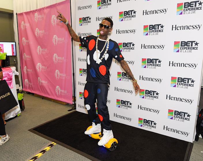 Soulja Boy attends the official BET Experience at Los Angeles Convention Center on June 27, 2015.