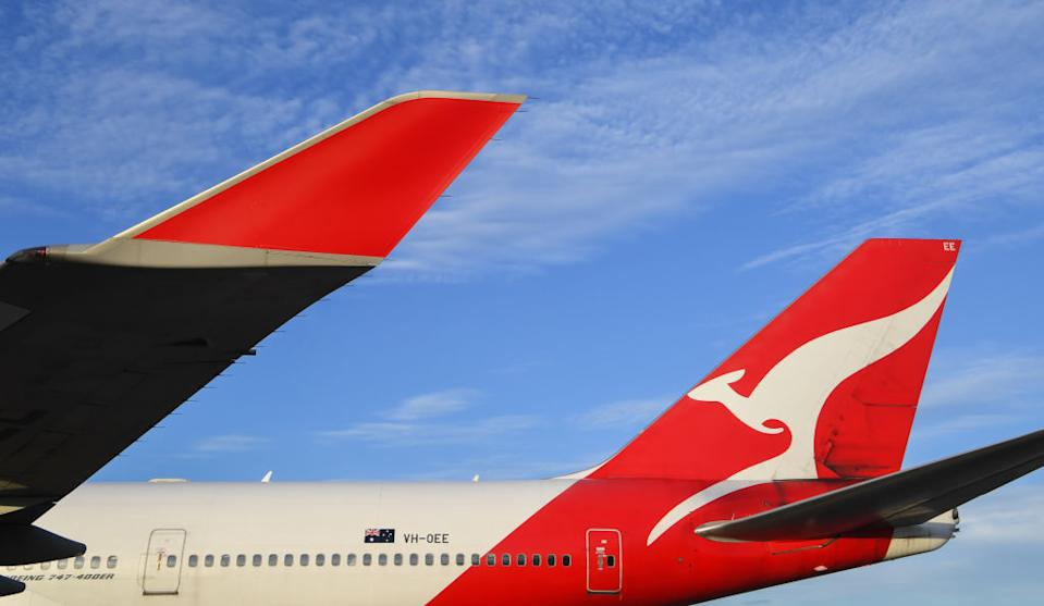 Qantas have enforced a new social distancing rule to protect customers. Source: Getty