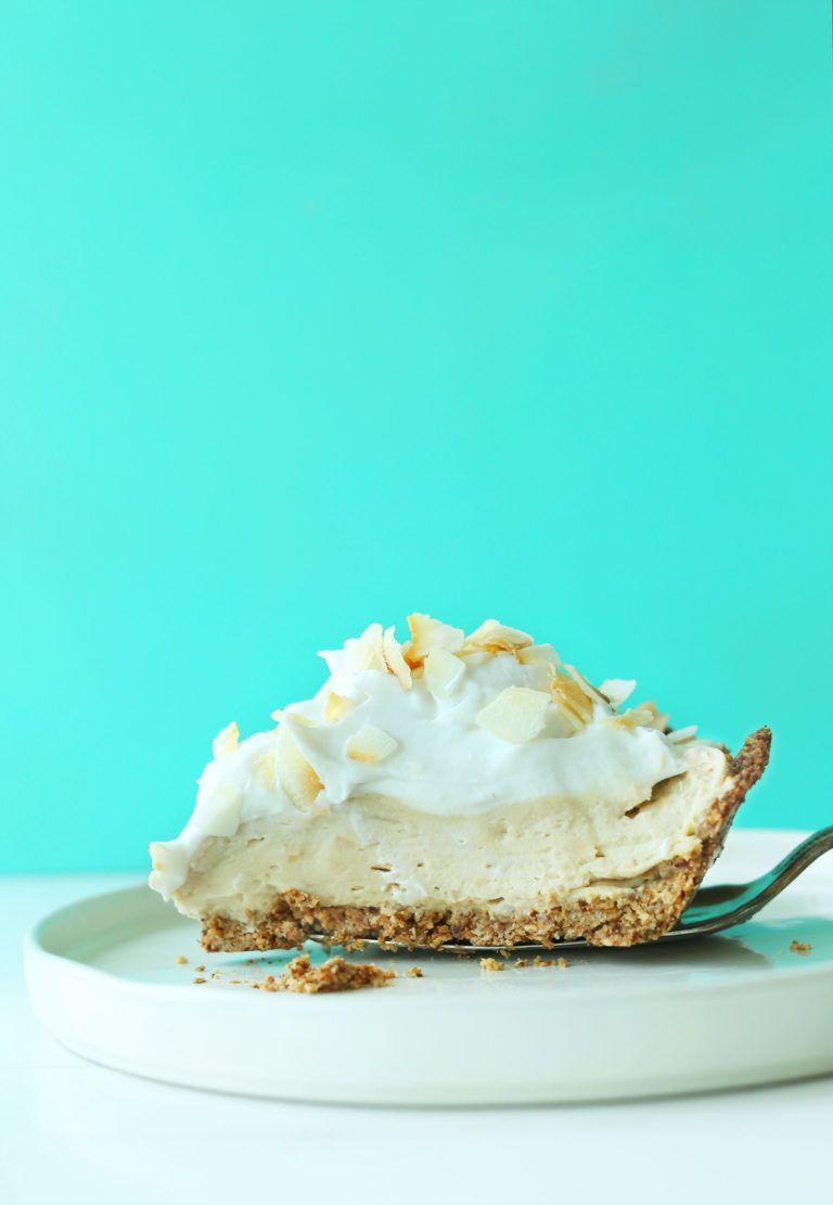 "<p>Coconut lovers rejoice: This pie is infused with coconut in five different ways for maximum flavor. Bonus: It's also vegan and gluten-free. </p><p><a href=""https://minimalistbaker.com/coconut-cream-pie-vegan-gf/"" rel=""nofollow noopener"" target=""_blank"" data-ylk=""slk:Get the recipe from The Minimalist Baker »"" class=""link rapid-noclick-resp""><em>Get the recipe from The Minimalist Baker »</em></a></p>"
