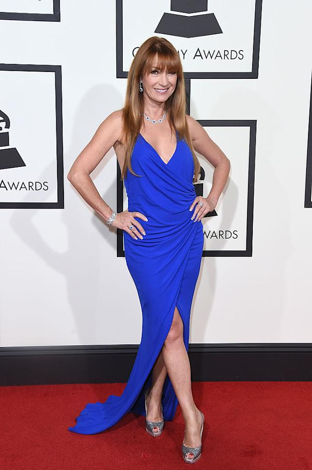 <p>Jane Seymour refuses to dress like a Stepford Wife just because she's mid way through her 7th decade. [Photo: Getty] </p>