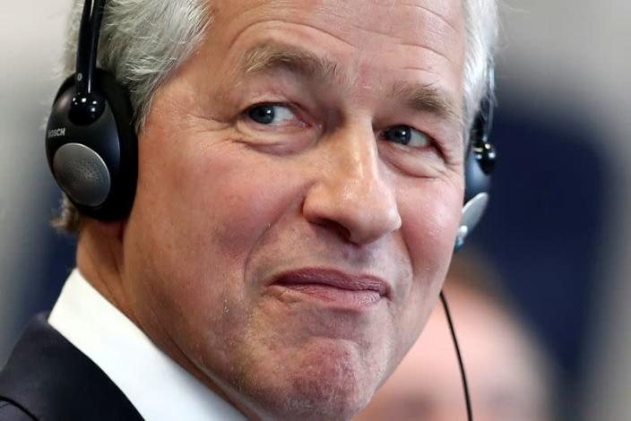 FILE PHOTO: Jamie Dimon, CEO of JPMorgan Chase, attends the launching of the Advancing Cities Challenge in Patin