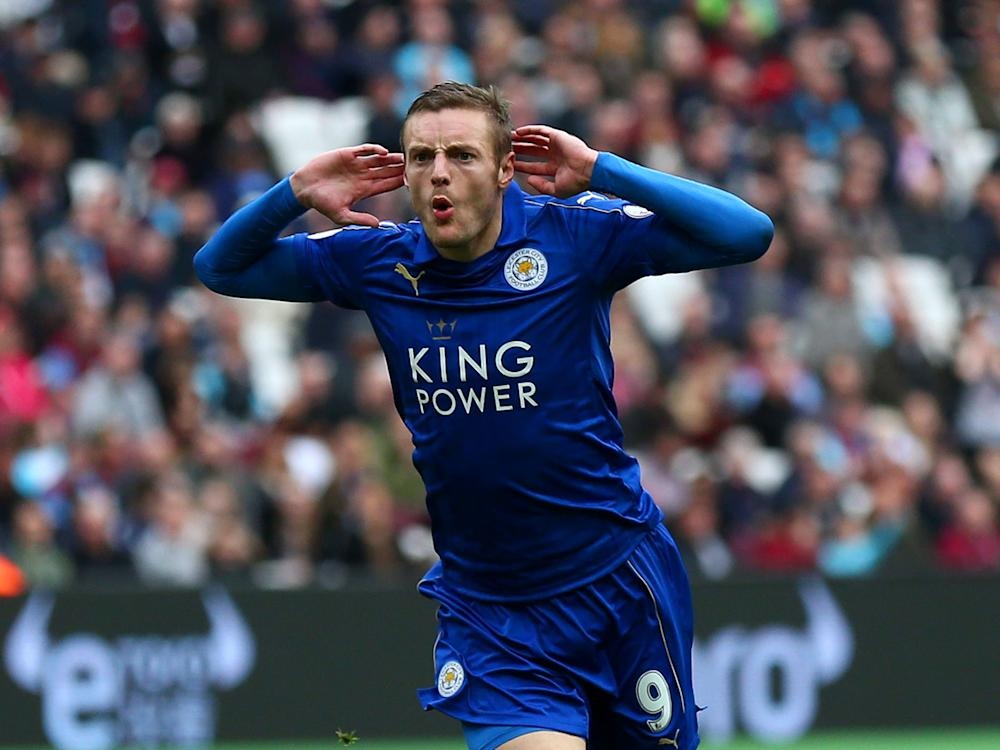 Jamie Vardy scored what turned out to be the winner for the Foxes: Getty
