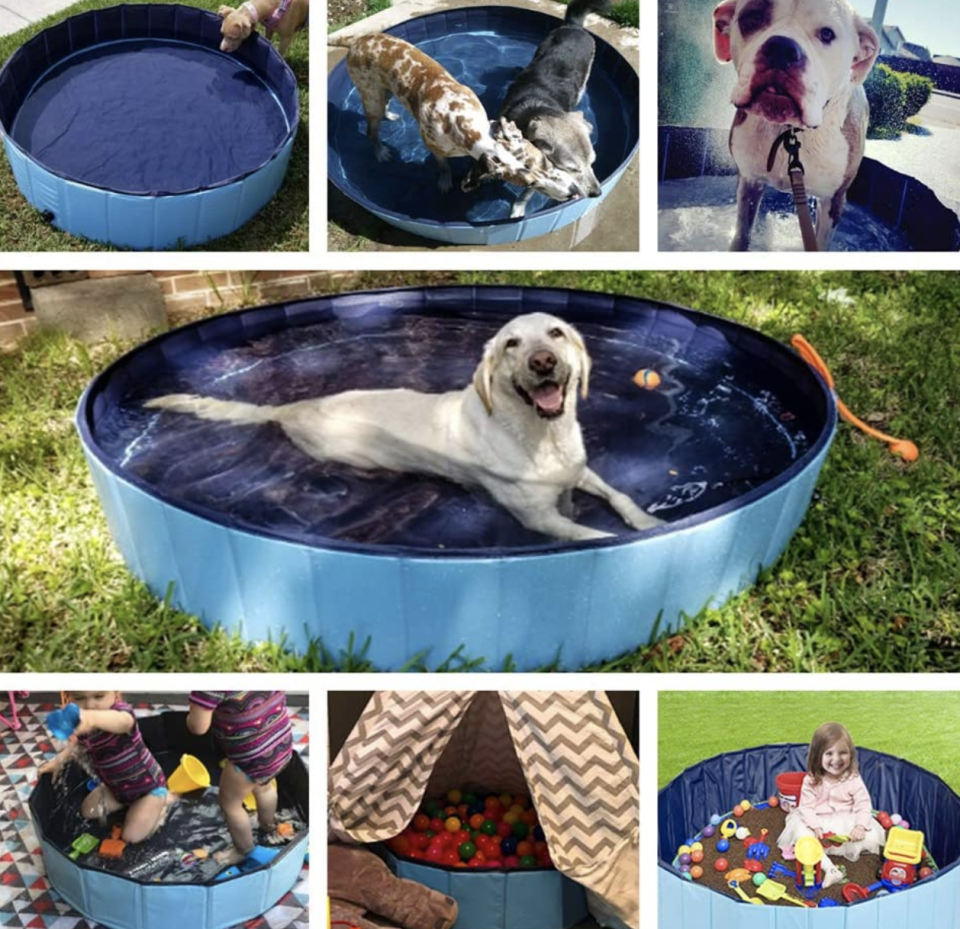 Bring on the splashy fun for your four- (and two-) legged babies. (Photo: Amazon)